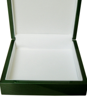 High gloss green square keepsake box