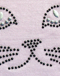 Cat face nailhead design