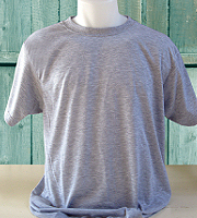 Vapor Apparel adult basic t-shirt in ash heather