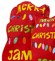 Santa sack cotton drill red 100 x 70 cm