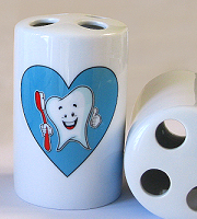 Ceramic toothbrush holder (box of 2)
