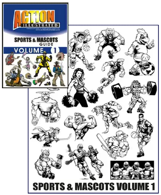 Action Illustrated Sports and Mascots Clipart Volume 1