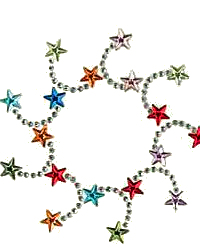 Star whirl nailhead design