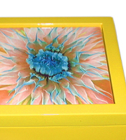 Yellow keepsake box