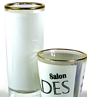 White 1.5 oz shot glass