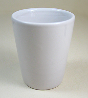 Special offer white ceramic 1.5 oz shot glass