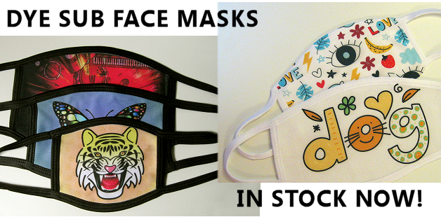 Face masks for dye sublimation printing