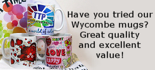 Wycombe white gloss mugs for dye sublimation printing